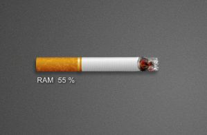 Cigaret RAM Monitor by xwidgetsoft
