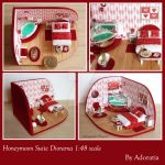 Honeymoon Suite With Jacuzzi, Diorama 1:48 scale by Adoratia
