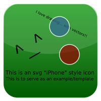 iphone icon template :svg: by lopagof