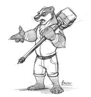 Baron the Badger by Temiree