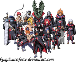 New Akatsuki Group Sprite by KingdomTriforce