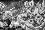 Heroes of the Storm Grayscale art by johnbecaro