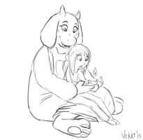Undertale Sketches - Learning How by Ribnose