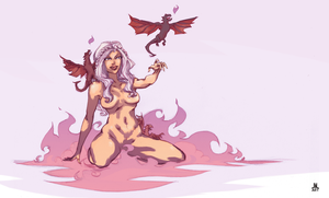 DAENERYS mother of dragons REDUX by jasinmartin