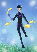 Scuba diver by magicbut3rfly