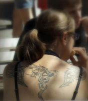 dragon tattoo by Mittelfranke