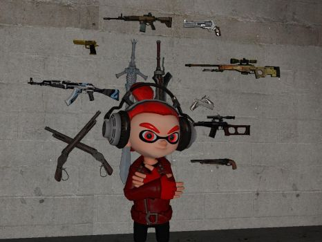The wall of weapons. (In progress) by godzillapro14