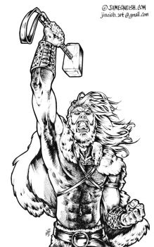 Thor in his viking days by JINeish