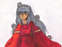 Inuyasha and his chibis by DeadLikeMe22