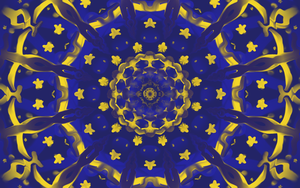 kaleidoscope Starry Night by Saberryna
