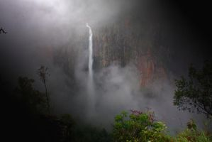 Wallaman Falls in the Mist by GlennBuckton
