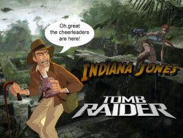 Lara Croft VS Indiana Jones by Julushko-navara