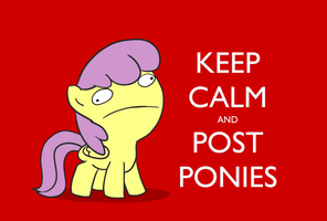 Parasol - Keep Calm and Post Ponies by HardCyder