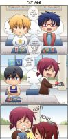 ++Free! 4koma: Fat Ass++ by hissorihaka