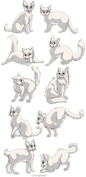Kitten linearts- 10 pack by DancingfoxesLF