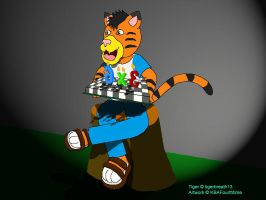 Tiger with a Cake by KBAFourthtime