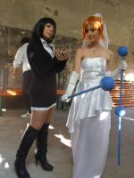 Nami-swan and Robin-chwan by Mellorineeee