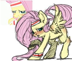 Fluttershy (Sketch) by mylittleRainbow-Time