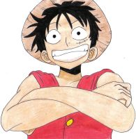 Luffy, King of the Pirates by PassionatePink