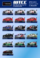 WTCC 2014 Spotter Guide by renxo93