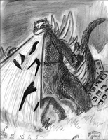 Godzilla-King of monsters by dd4rri3nd