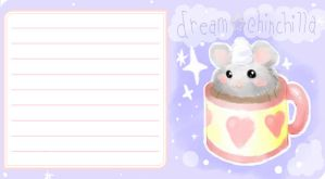 dream chinchilla stationary by mandichan