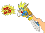 Get 'em, Sparkster by Marcus-Maximillion