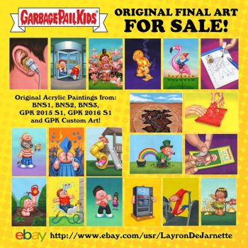 Original GPK Final Art FOR SALE 1 day left on eBay by DeJarnette