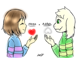 [Undertale] Day 8: Friskriel (UT Shipping Pride) by MCMania332