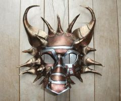 Leather Dragon Mask v.2 by Jedi-With-Wings