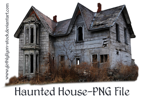 Haunted House-by-GothLyllyOn-Stock by GothLyllyOn-Sotck