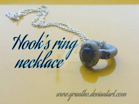 Hook's Ring Necklace - Once Upon A Time by yrantho