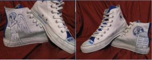 Doctor Who Blink Chucks by reiterati0n