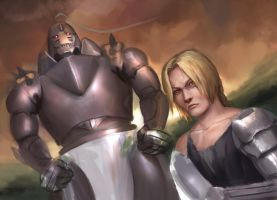work in progress - Brothers Elric by Reffelia