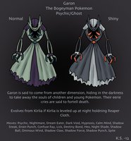 Garon Fakemon Kirlia Alternate Evolution by The-Clockwork-Crow