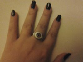 Black Nails, New Ring by LMW-Creations