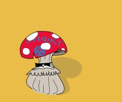 One Tough Son of a Mushroom by Stock7000