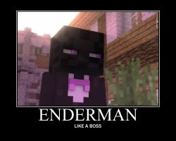 Enderman Motivational Poster by Sonicluvr5