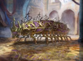 MTG - Prakhata Pillar-Bug - Kaladesh by jason-felix
