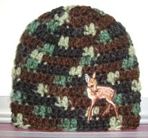 Hunting Buddy Newborn Hat by Crochet-by-Clarissa
