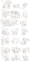 Enoch does an hourly comic by E-N-O-C-H