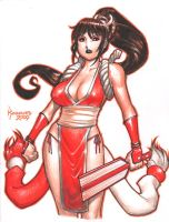 Mai Shiranui sketch -colored by RyanKinnaird