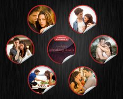 Twilight Breaking Dawn black brushed Wallpaper by Maysa2010