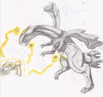 Jolteon v.s Kyurem by PeaceArt79