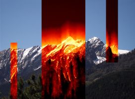 Fire in the Alps by Sabbelbina