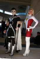 Black Lantern + Saturn Girl 2 by Insane-Pencil