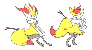 messy braixen's by gobixhoukou