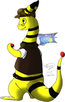 Jenna the Sub-Ampharos by Threehorn