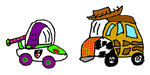 Toy Car Story Buzz and Woody by thearist2013