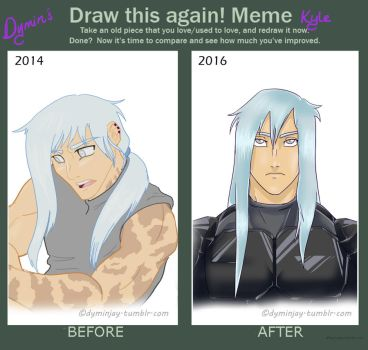 Before and After Meme: Kyle Centari by Dymin-Jay
